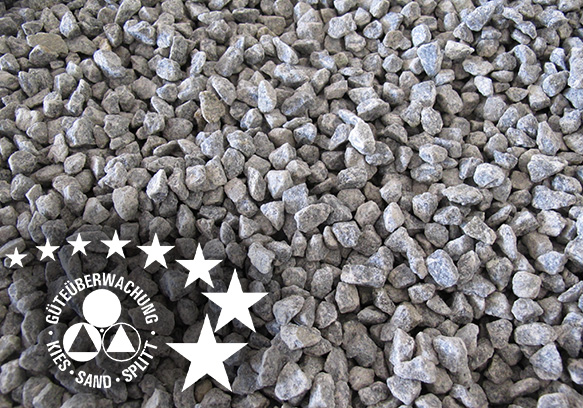 Natursteinsplitt Gesteinskörnungen Überwachung Zertifizierung